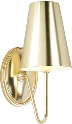 Rejuvenation Berkshire Single Sconce with Metal Shades