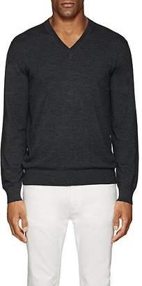 Cifonelli Men's Wool V-Neck Sweater - Medium Gray
