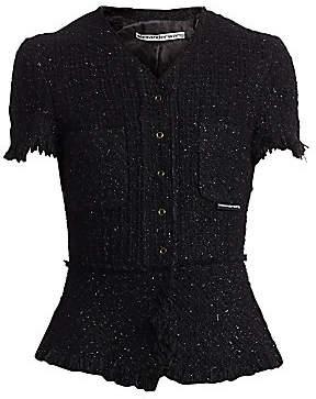 Alexander Wang Women's Short-Sleeve Tweed Jacket