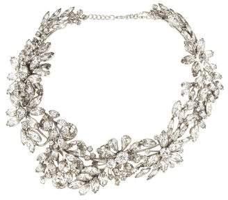 Tom Binns Crystal Floral Collar Necklace