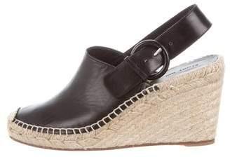 Celine Leather Slingback Wedges