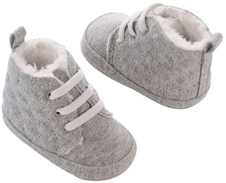 Baby Girl Carter's Quilted Jersey Faux-Fur Lined Crib Shoes $17 thestylecure.com