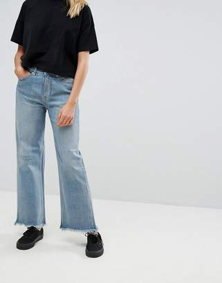 Cheap Monday High Rise Skater Flare Jean With Uneven Hem