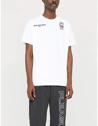 Reebok PLEASURES graphic-print jersey T-shirt