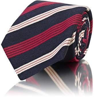 Kiton Men's Striped Silk-Cotton Repp Necktie
