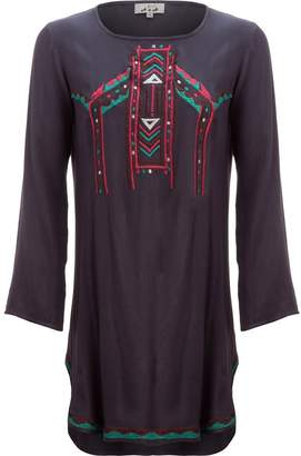 A.N.A Embroidered Dress with Shirt Tail Hem - Women's