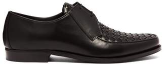 Bottega Veneta - Intrecciato Derby Shoes - Mens - Black