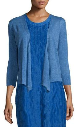NIC+ZOE 4-Way Linen-Blend Knit Cardigan, Gulf $98 thestylecure.com