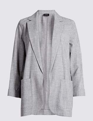 Marks and Spencer Relaxed Open Front Blazer