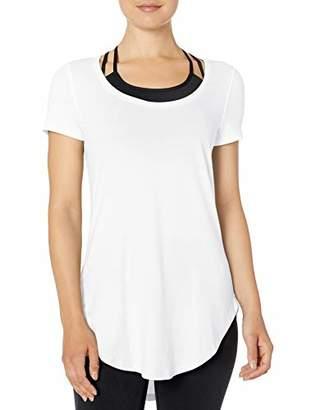 Core 10 Women's Plus Size Pima Cotton-Blend Short Sleeve Yoga Tunic