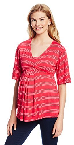 Japanese Weekend Women's Maternity During and After Flutter Sleeve Nursing Top