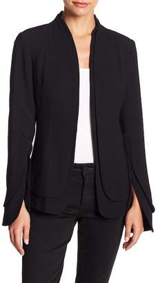 Fate Layered Hem Cape Blazer