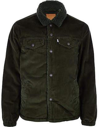 River Island Levi khaki cord trucker jacket