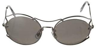 Miu Miu Round Mirror Sunglasses