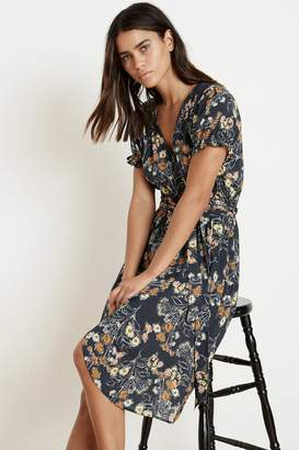 Velvet by Graham & Spencer MEADOW FLORAL PRINTED CHALLIS WRAP DRESS