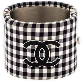 Chanel Gingham CC Cuff Bracelet