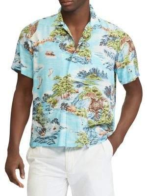 Polo Ralph Lauren Classic-Fit Printed Button-Down Shirt