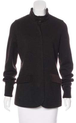 Loro Piana Suede-Trimmed Cashmere Jacket