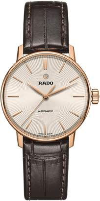 Rado Coupole Classic Automatic Leather Strap Watch, 31.8mm