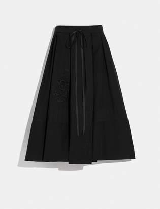 Coach Cotton Prairie Short Dirndl Skirt