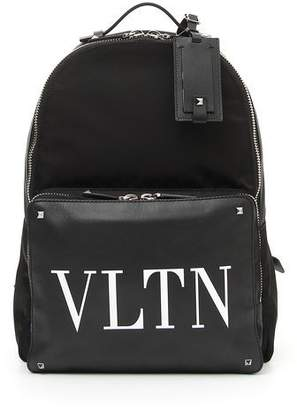 Valentino Men's VLTN Logo Leather Backpack