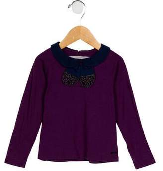 Little Marc Jacobs Girls' Collared Long Sleeve Top