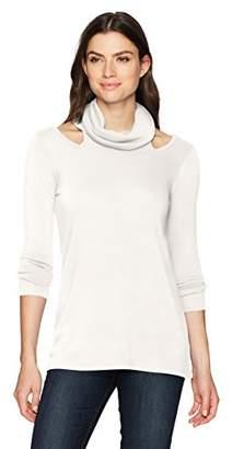 Karen Kane Women's Cut-Out Cowl Neck Sweater