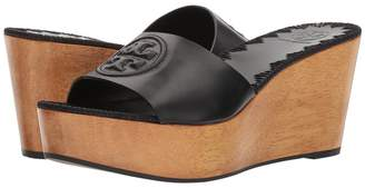 Tory Burch Patty 80mm Wedge Slide Women's Slide Shoes
