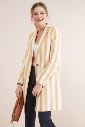 Next Womens Ochre Stripe Blazer - Yellow