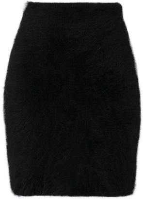 Balmain knitted mini skirt