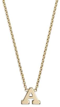 Rachel Zoe Zoë Chicco 14K Yellow Gold Initial Necklace, 16""