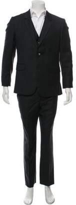 Alexander McQueen Pinstripe Wool Three-Piece Suit grey Pinstripe Wool Three-Piece Suit