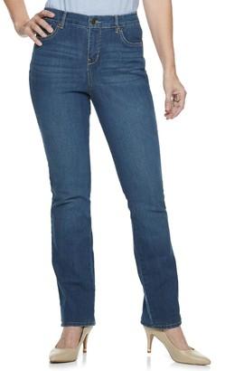 Gloria Vanderbilt Women's MidRise Rail Straight-Leg Jeans
