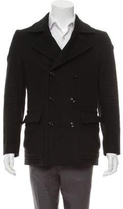Maison Margiela Wool Double-Breasted Coat