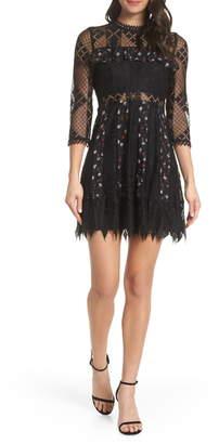 Foxiedox Josefine Lace & Clip Dot Cocktail Dress