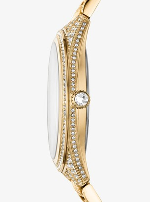 Michael Kors Lauryn Pave Gold-Tone Watch