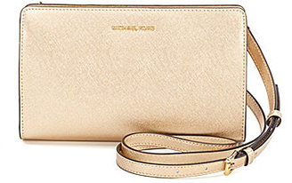 MICHAEL Michael Kors Jet Set Metallic Large Cross-Body Clutch $168 thestylecure.com