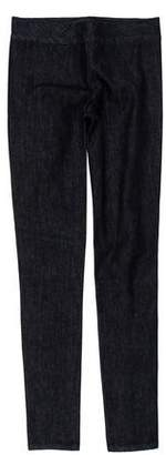The Row Mid-Rise Denim Leggings