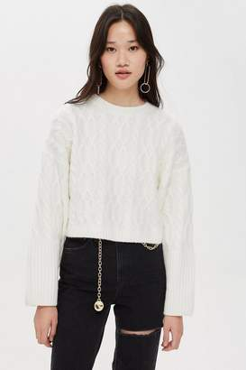 Topshop TALL Cable Cropped Jumper