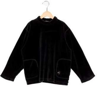 Sonia Rykiel Girls' Mock Neck Sweater black Girls' Mock Neck Sweater