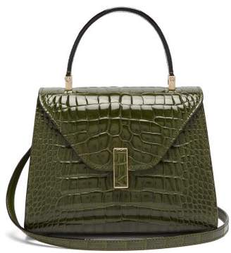 Valextra Iside Mini Crocodile Leather Bag - Womens - Green