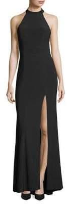 Xscape Evenings Petite Halter Sheath Dress