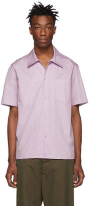 Helmut Lang Purple Tie Short Sleeve Shirt