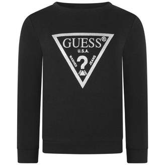 GUESS GuessGirls Black Branded Sweatshirt