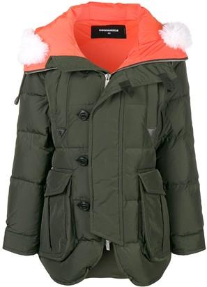 DSQUARED2 oversized padded coat