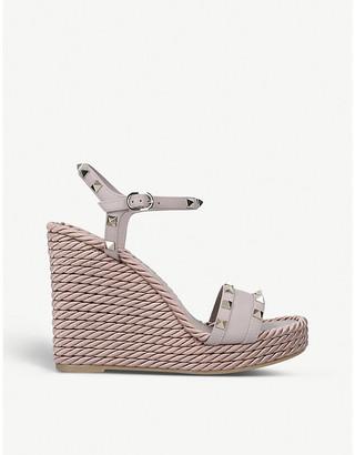 Valentino Rockstud Torchon wedge sandals