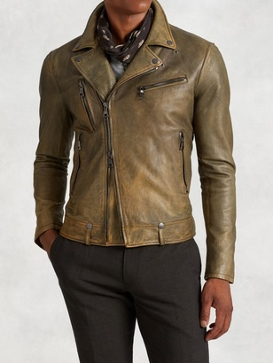 Asymmetrical Leather Biker Jacket $1,898 thestylecure.com