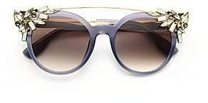 Jimmy Choo Women's Vivy 51MM Crystal-Embellished Cats-Eye Sunglasses