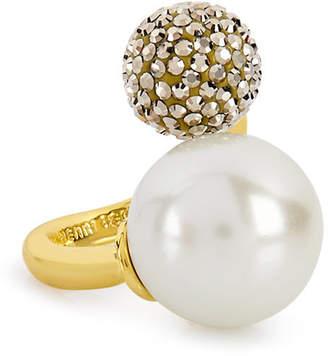 Henri Bendel Pearl Ball Wrap Ring