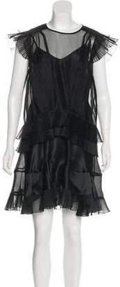 Isabel Marant Sheer Silk-Blend Dress